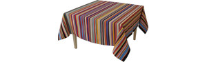 Nappe Rectangulaire Rayée Multicolore - Tom Multicolore