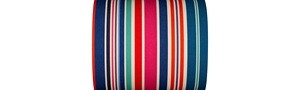 Multicolored Striped Fabrics - Cabanon - 43cm