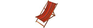 Deckchair - Saint Vincent rouge Sunbrella