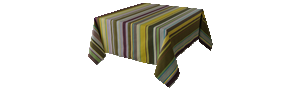 Nappe Rectangulaire Rayée Multicolore - Saillagouse