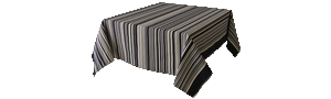 Nappe Rectangulaire Rayée Multicolore - Tom Black